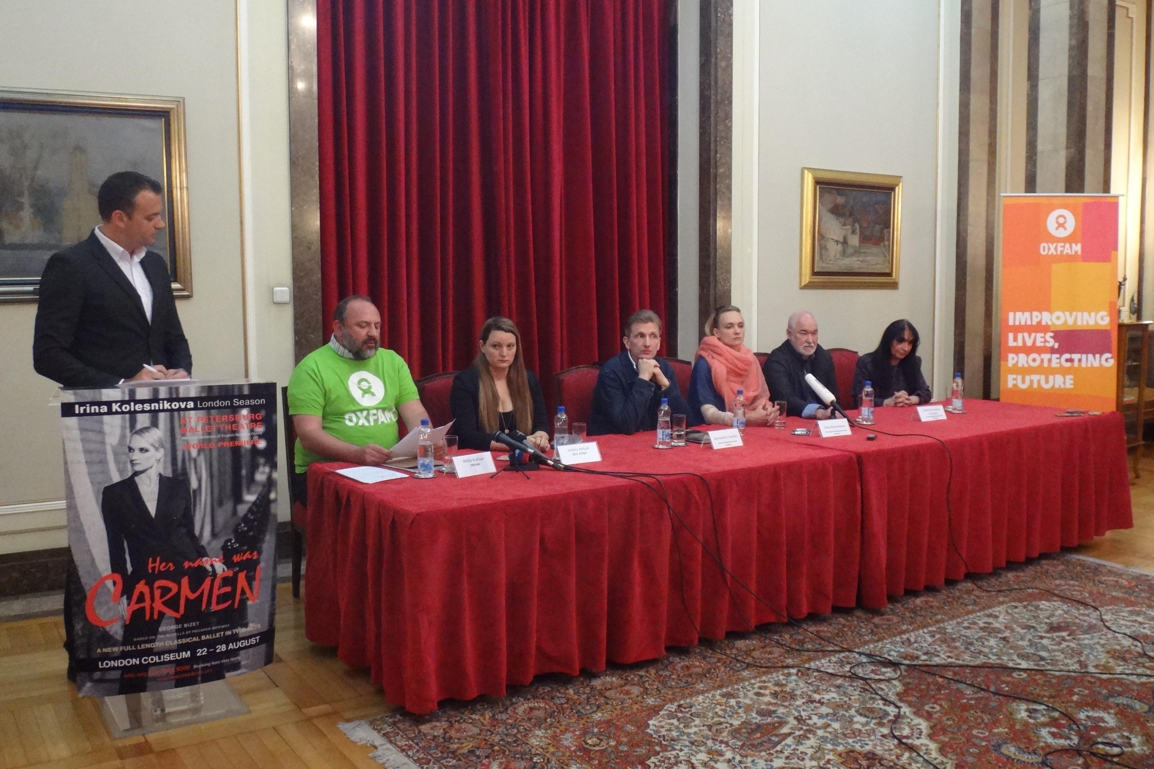 Zajedno u borbi za prava izbeglica sa ruskom primabalerinom Irinom Kolesnikovom i NVO Atina